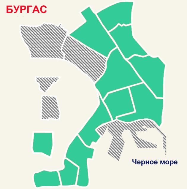 Средние цены на квартиры в Бургасе
