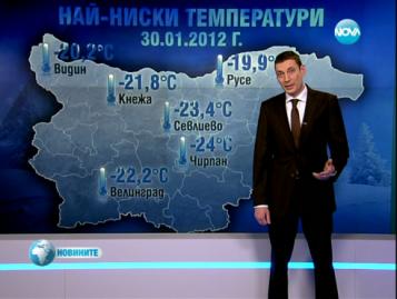 Аномально низкая температура в Болгарии