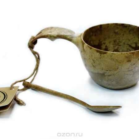 Купить Набор: чашка+чайная ложка Kupilka, цвет: коричневый, объем чашки 210 мл