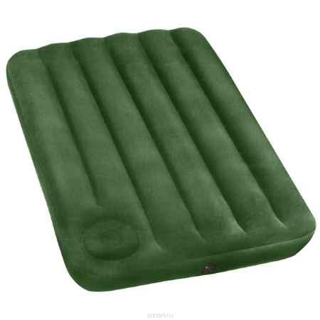 Купить Матрас надувной Intex, флокированный, цвет: зеленый, 191 х 99 х 22 см. 66927