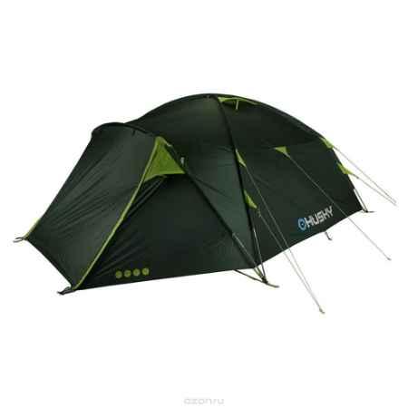 Купить Палатка Husky Brozer 5 Dark Green, цвет: темно-зеленый