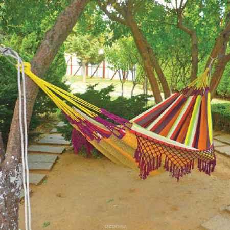 Купить Гамак Happy Camper с бахромой, цвет: мультиколор, 320 см х 150 см