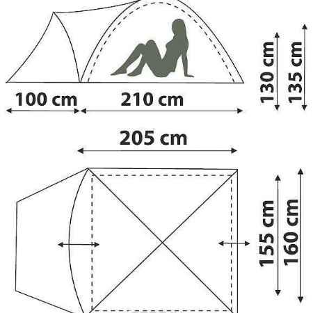Купить Палатка CANADIAN CAMPER KARIBU 2 (цвет forest)