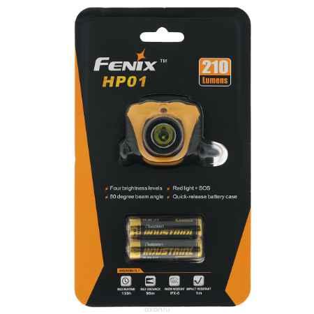 Купить Фонарь налобный Fenix HP01, цвет: желтый