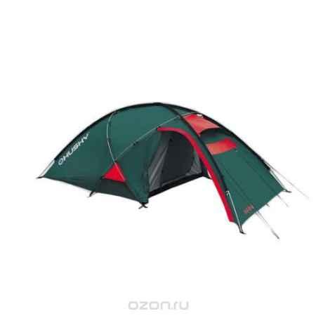 Купить Палатка Husky Felen 3-4 Dark Green, цвет: темно-зеленый