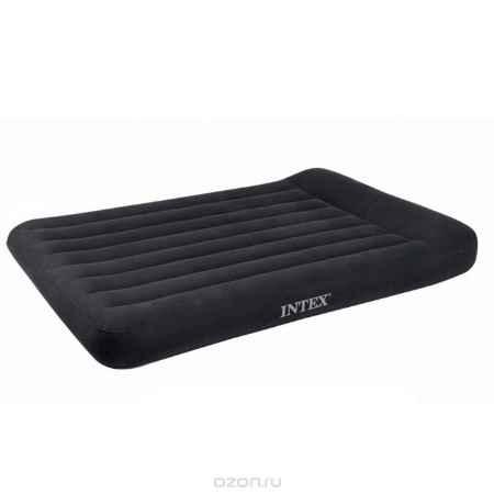 Купить Матрас надувной Intex, флокированный, цвет: синий, 191 х 137 х 30 см. 66768