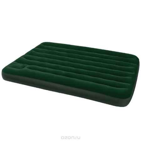 Купить Матрас надувной Intex, флокированный, цвет: зеленый, 191 х 137 х 22 см. 66928