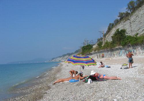 Какие пляжи в п. Дедеркой (Туапсе)