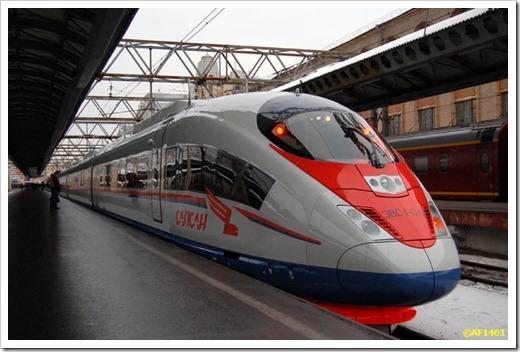 C какого вокзала отправляется сапсан из Москвы?