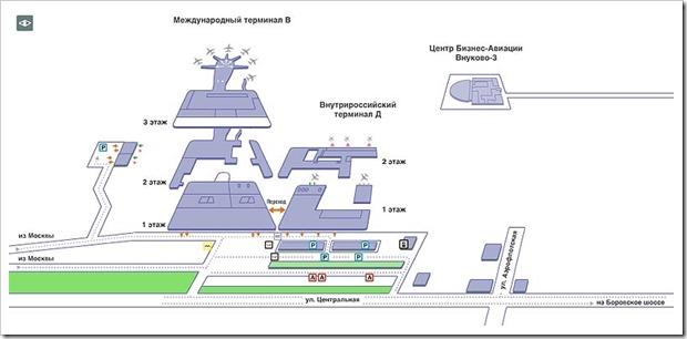 Где находятся парковки в аэропорту Внуково