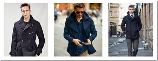 С чем носить мужское пальто бушлат
